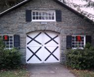 Beautiful stone garage